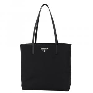 Prada Black Medium Nylon Tote Bag