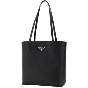 Prada Black Saffiano Leather Small Tote Bag