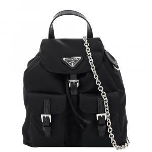 Prada Black Nylon Backpack Mini Bag