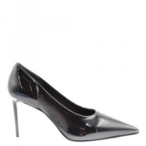 Prada Black Textured Leather Pumps Size EU 35.5