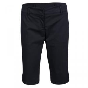 Prada Sport Navy Blue Cotton Twill Fitted Bermuda Shorts M