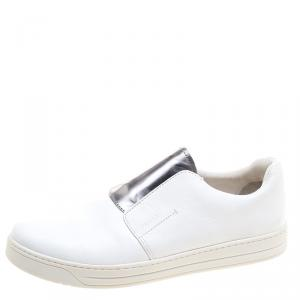 Prada Sport White Leather Slip On Sneakers Size 39