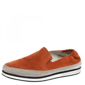 Prada Sport Orange Suede Espadrille Sneakers 37.5 - used