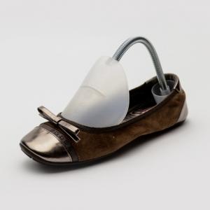 Prada Sport Cigar Suede Camoscio Bow Ballet Flats Size 38.5