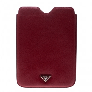 Prada Red Saffiano Leather iPad Mini Case