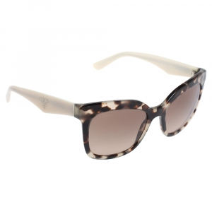 Prada Spotted Opal Brownl/ Brown Gradient SPR24Q Cat Eye Sunglasses