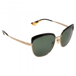 Prada Gold/ Green SPR51T Sabbiato Polarized Cat Eye Sunglasses