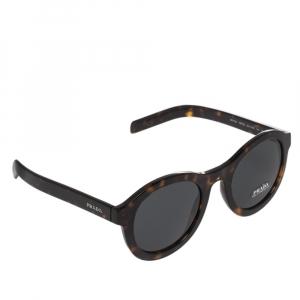 نظارة شمسية برادا SPR 24V ترتواز بني/ رصاصي مستديرة