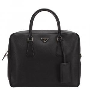Prada Black Saffiano Leather Business Bag