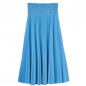 Prada Light Blue High Waist Pleated Skirt M