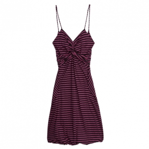 Prada Striped Strapless Dress M