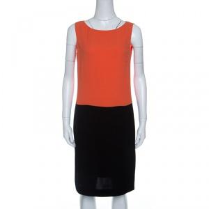 Prada Colorblock Crepe Sleeveless Midi Dress M - used