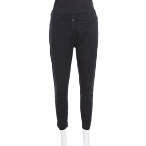 Prada Black Cotton Tailored Pants S