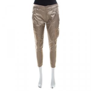 Prada Beige Silky Zip Detail Cargo Pants S - used