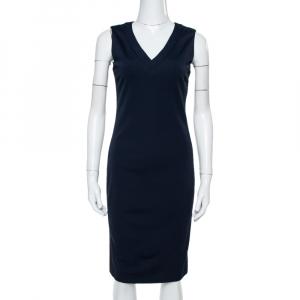 Prada Navy Blue Jersey Sleeveless Sheath Dress M - used