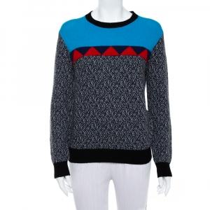 Prada Color Block Wool & Cashmere Crewneck Sweater S - used