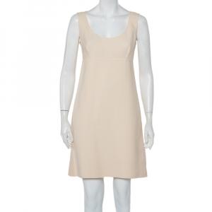 Prada Cream Cotton Sleeveless Midi Dress M - used