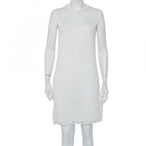 Prada White Crochet Sleeveless Mini Dress M - used