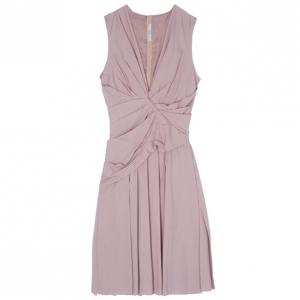 Prada Taffeta Pleated Knee-length Dress M