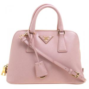 Prada Pastel Saffiano Lux Leather Small Promenade Top Handle Bag