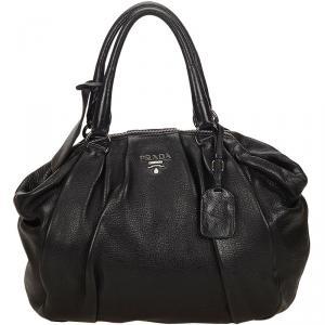 حقيبة برادا افريداي جلد سوداء