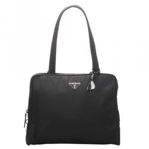 Prada Black Nylon Tessuto Tote Bag