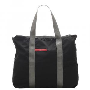 Prada Black Nylon Sports Shoulder Bag
