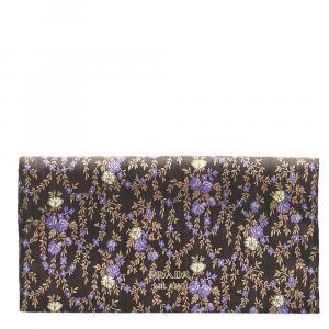 Prada Multicolor Floral Silk Clutch Bag