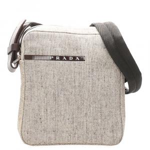 Prada Brown/Light Brown Sports Canvas Crossbody Bag