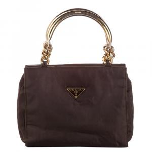 Prada Brown Tessuto Satchel Bag
