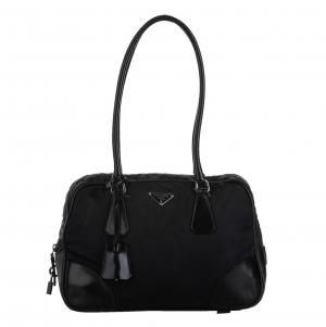 Prada Black Tessuto Satchel bag