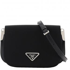 Prada Black Leather Margit Shoulder Bag