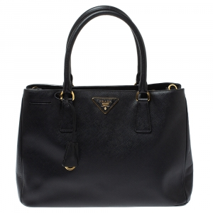 Prada Black Saffiano Lux Leather Medium Galleria Tote
