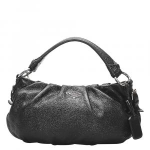 Prada Black Leather Vitello Lux Bag