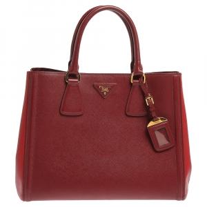 Prada Bicolor Saffiano Lux Leather Tote