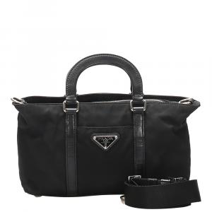 Prada Black Nylon Tessuto Bag