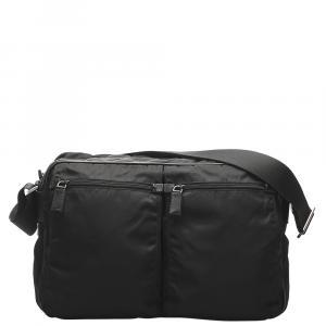 Prada Black Nylon Tessuto Crossbody Bag