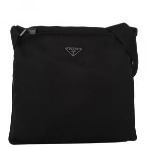 Prada Black Nylon   Messengers