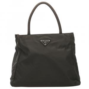 Prada Black Tessuto Tote Bag