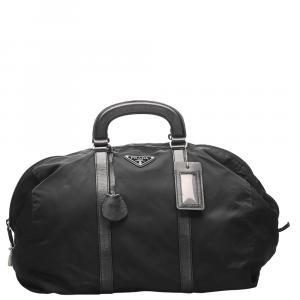 Prada Black Nylon   Duffel Bags