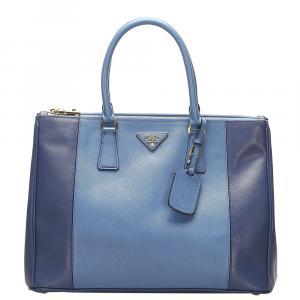 Prada Bicolor Saffiano Lux leather Galleria tote bag