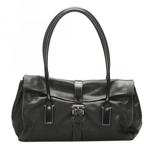 Prada Black Leather Satchel