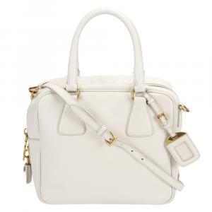 Prada White Leather   Satchels