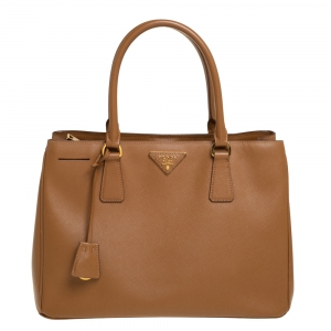 Prada Brown Saffiano Lux Leather Medium Tote