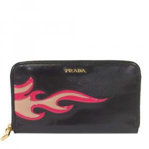 Prada Black Leather   Wallets