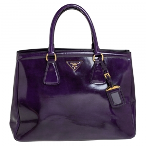 Prada Purple Patent Leather Parabole Tote