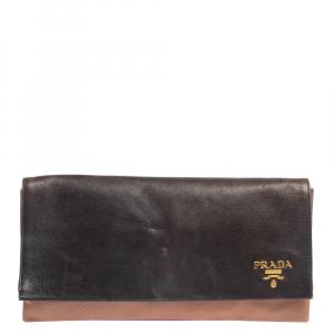 Prada Ombre Leather Flap Clutch