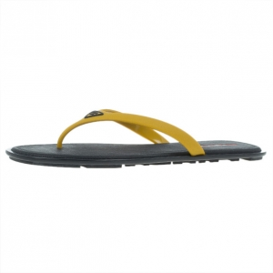 Prada Sport Yellow Crosshatch Rubber Flip-Flops Size 43