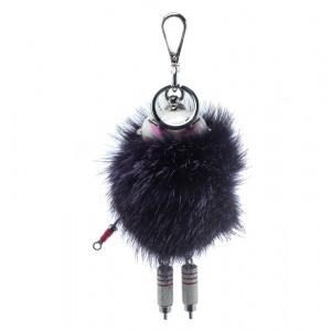 Prada Purple Fur Trick Robot Keyring  / Bag Charm