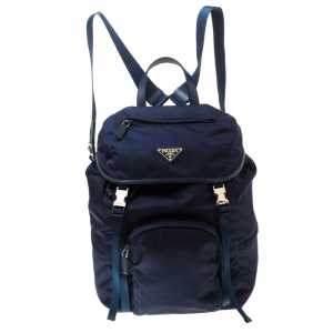 Prada Navy Blue Nylon Backpack